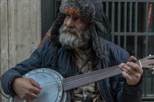 homeless, clochard, banjo, beard, portrait, traditional, culture, Istanbul, playing, music, street, photography, portrait, beard, hat
