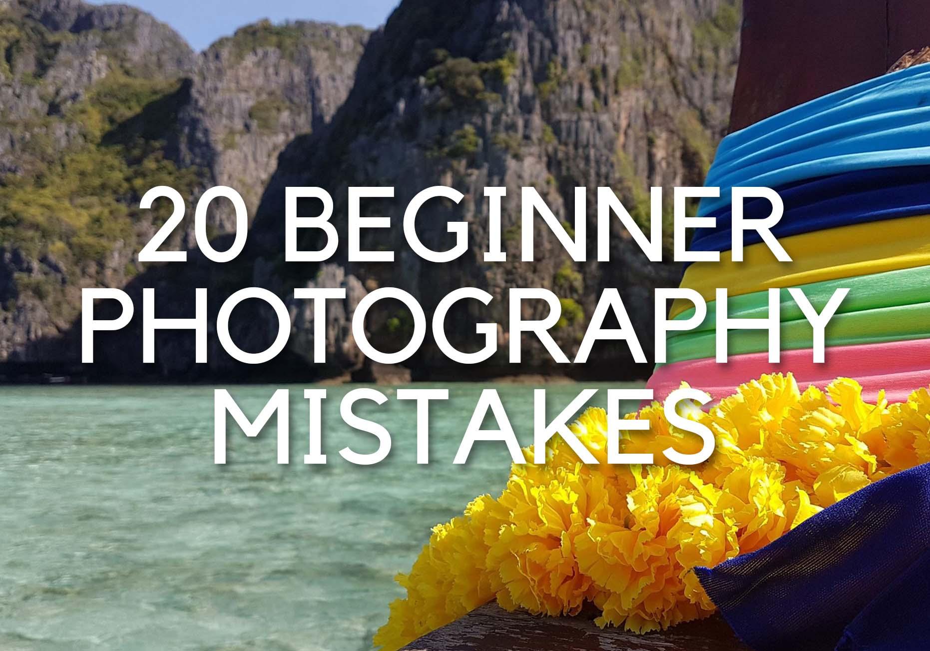 HOW TO TAKE GOOD PHOTOS – 20 beginner mistakes – Tips & Tricks