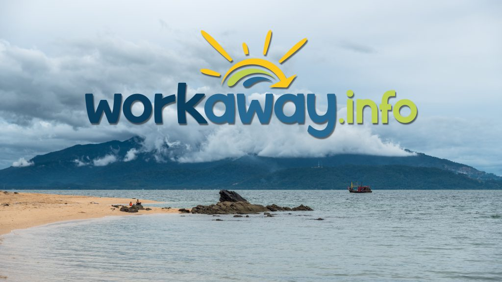 workaway info logo with a landscape of Malaysia